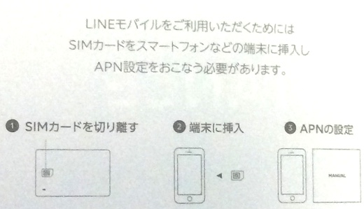 LINE MOBILE 初期設定方法